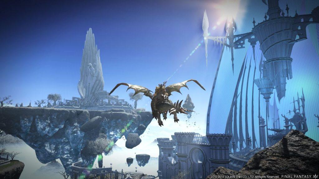 Final Fantasy XIV Heavensward Karte mit Flug-Reittier