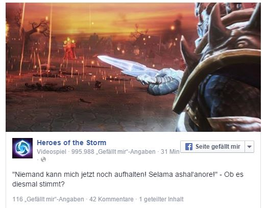 Heroes of the Storm Facebook