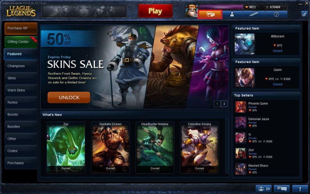 League of Legends Itemshop