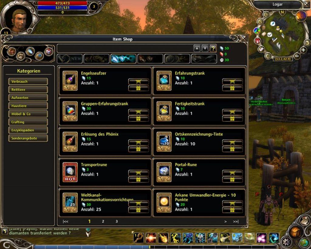 Runes of Magic Itemshop