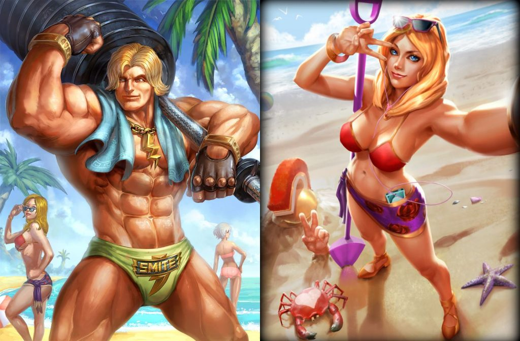 Hercules Aphrodite Smite Beach Skin