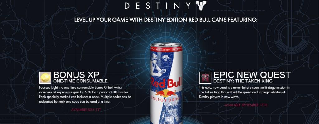 Destiny: Gibt's die Red Bull Exklusiv-Codes auch in Deutschland?