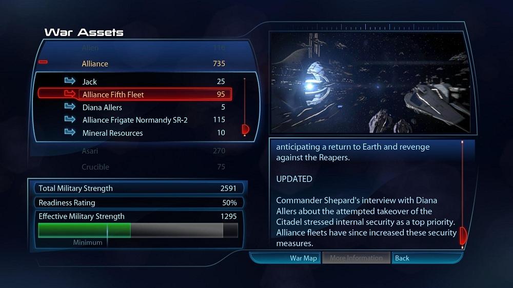Mass Effect War Assets