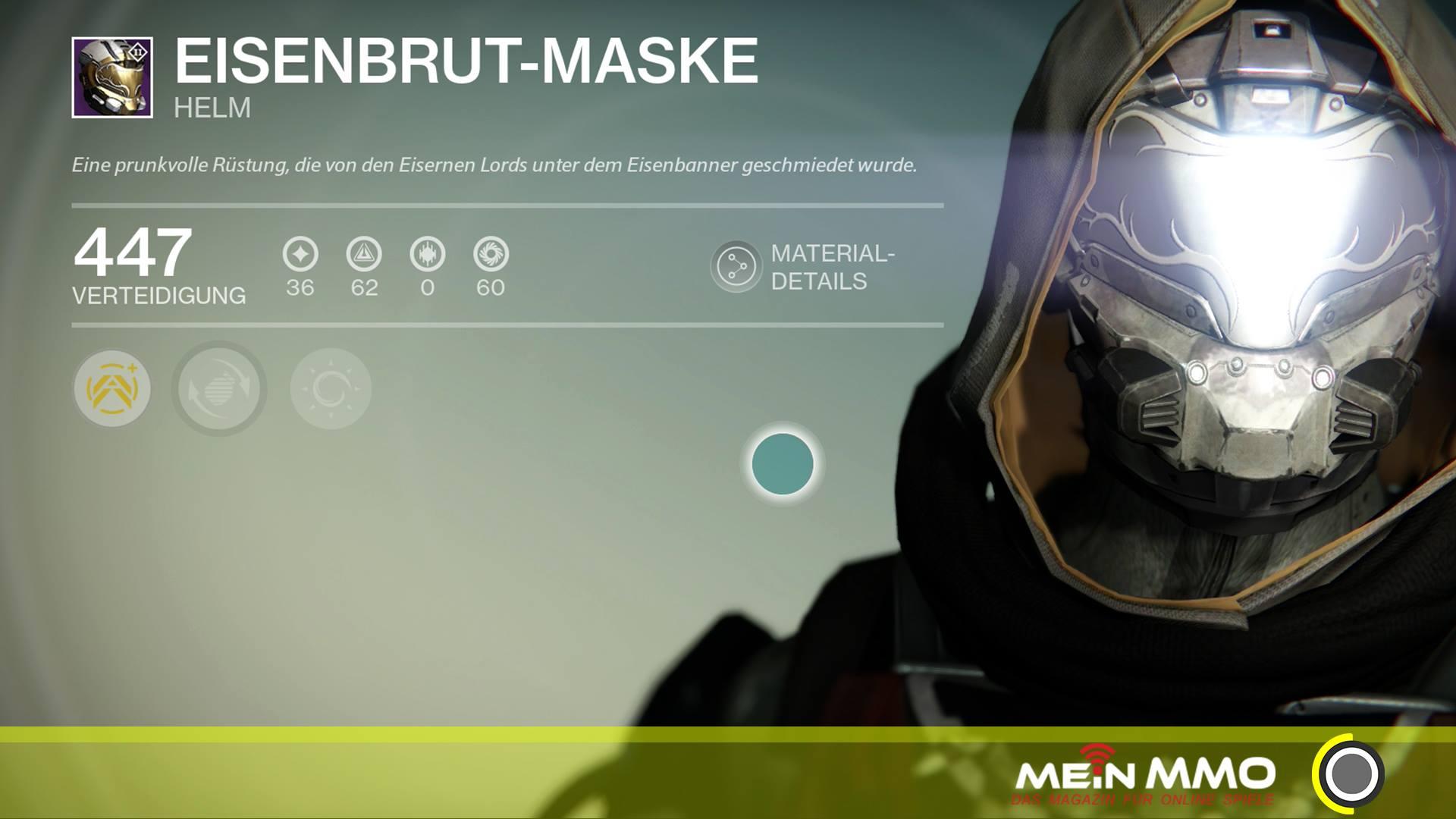 Destiny-Eisenbrutmaske