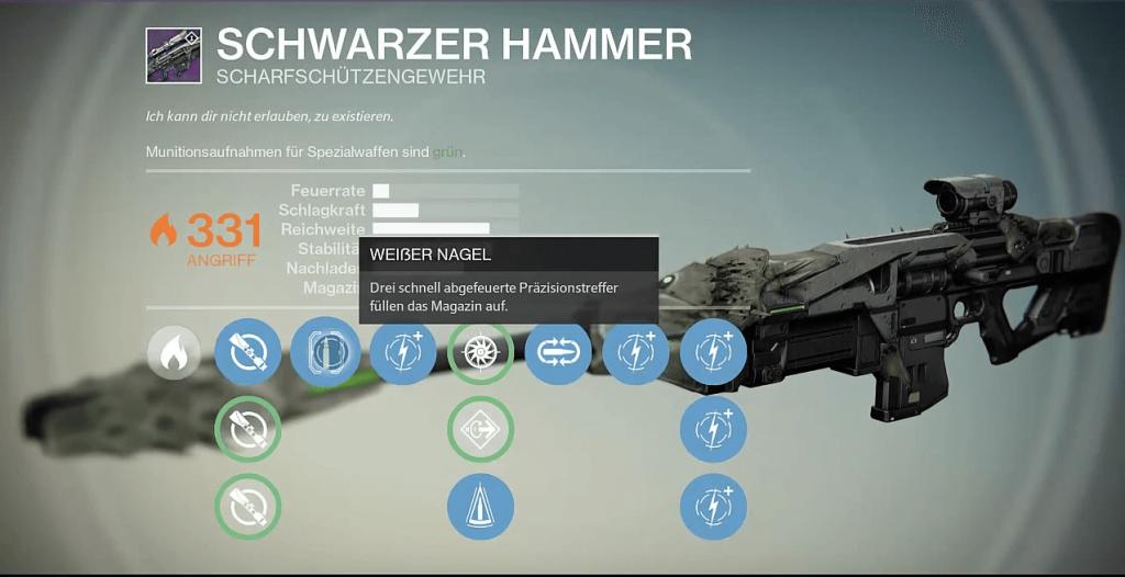 Destiny-Schwarzer-Hammer