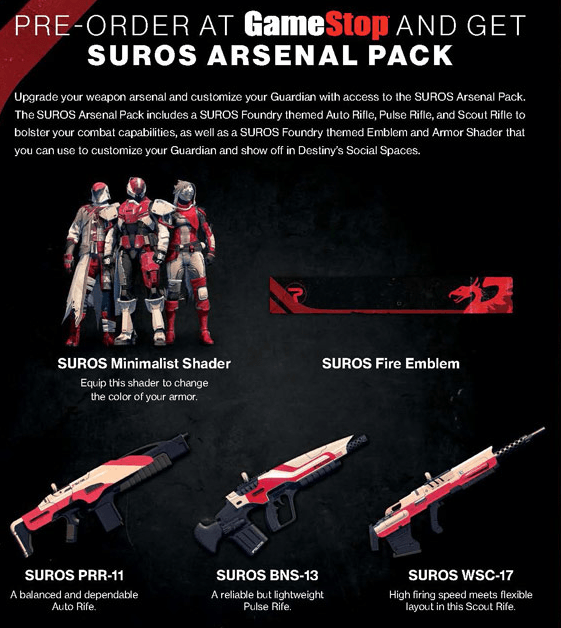 Destiny-Suros-Gamestop