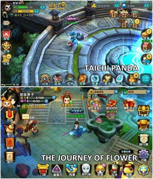 Taichi Panda vs The Journey of Flower