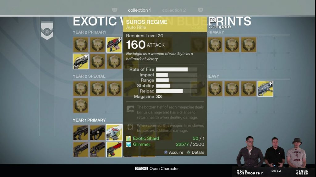 Destiny Taken King Blueprint Exotic Weapon