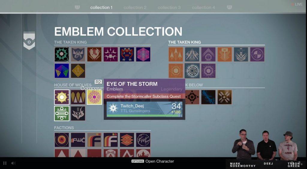 Destiny Taken King Emblem Collection