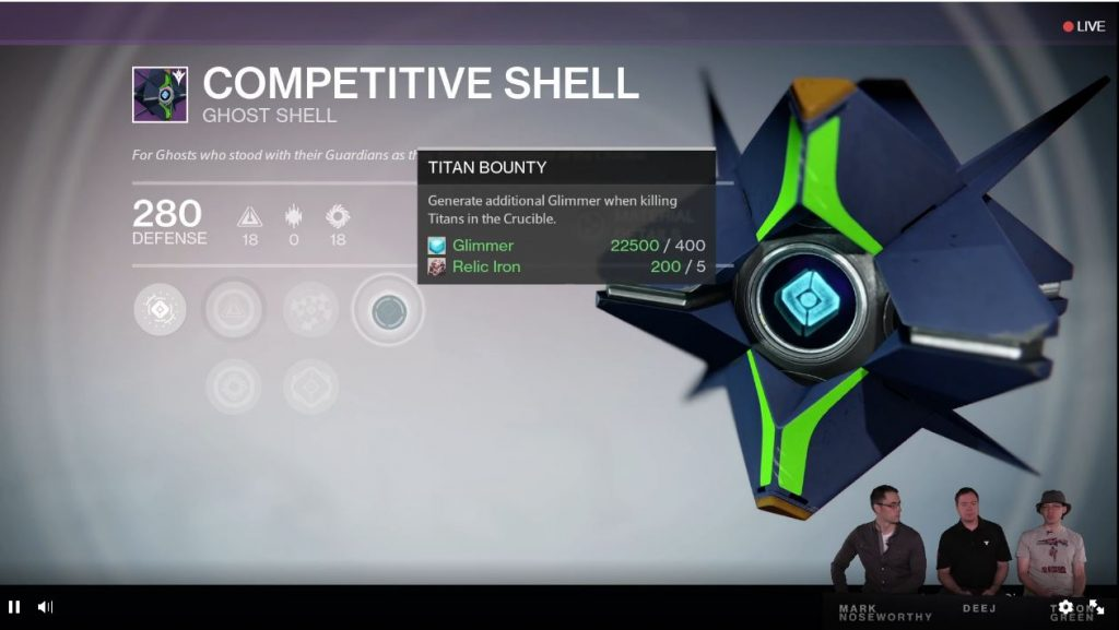 Destiny Taken King Glimmer Perk Ghost