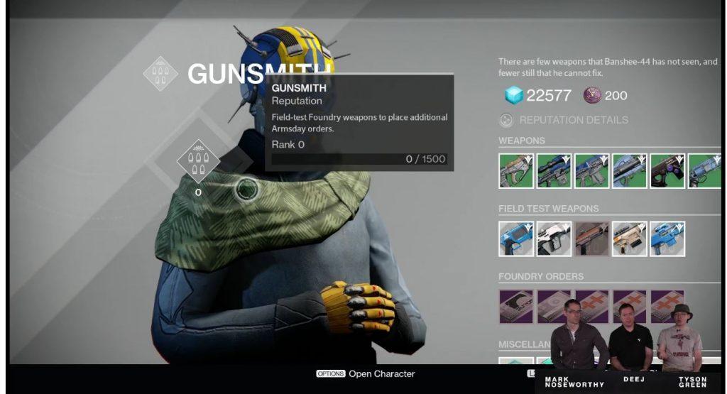 Destiny Taken King Gunsmith