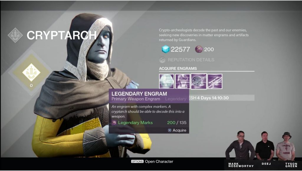 Destiny Taken King Legendary Engram