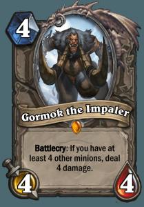 Hearthstone Gormok the Impaler