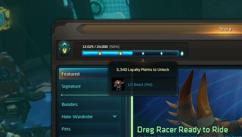 Die aktuellen Kosmospunkte können im Spiel eingesehen werden - ebenso wie die nächsten Belohnungen.
