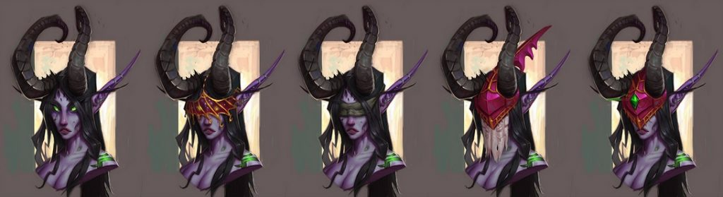 WoW Demon Hunter Nightelf head female