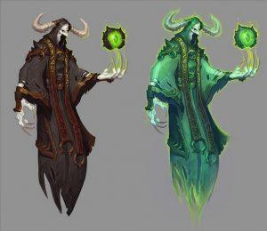 Die brennende Legion bekommt neue Diener. Was sie wohl für einen Hintergrund haben?