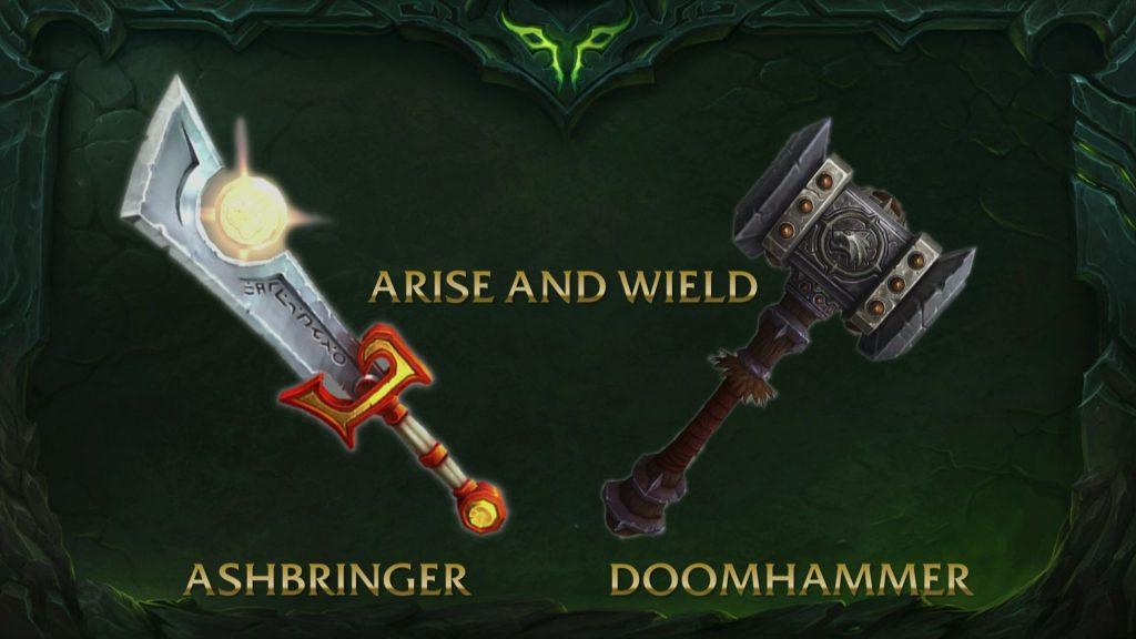 Wow artifact ashbringer doomhammer