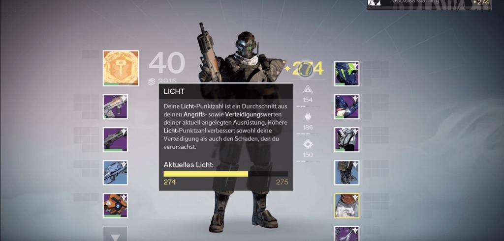 Destiny-Licht