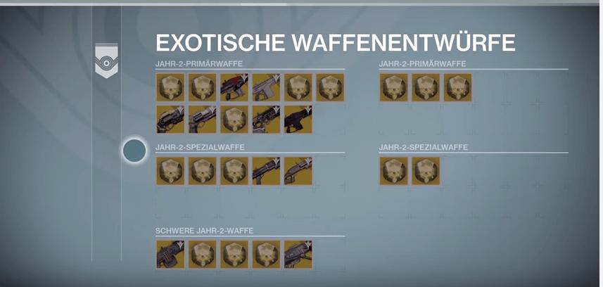 Exo-Waffenentwürfe