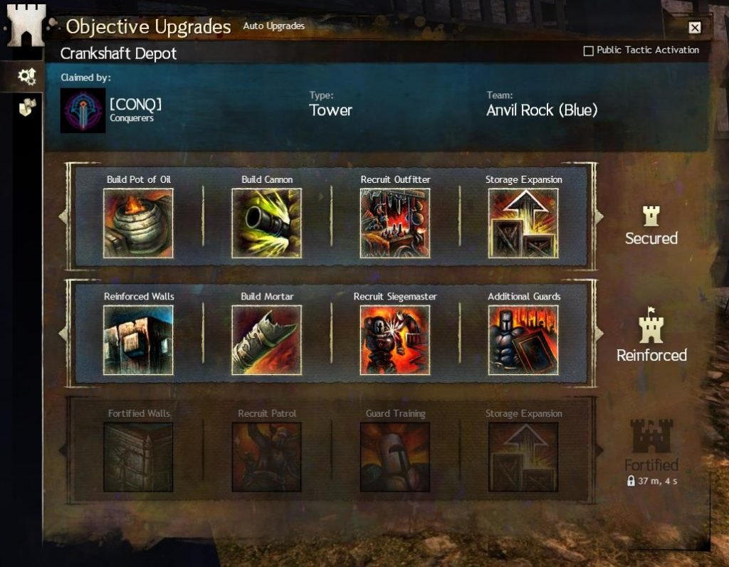 Guild Wars 2 Objective Upgrades