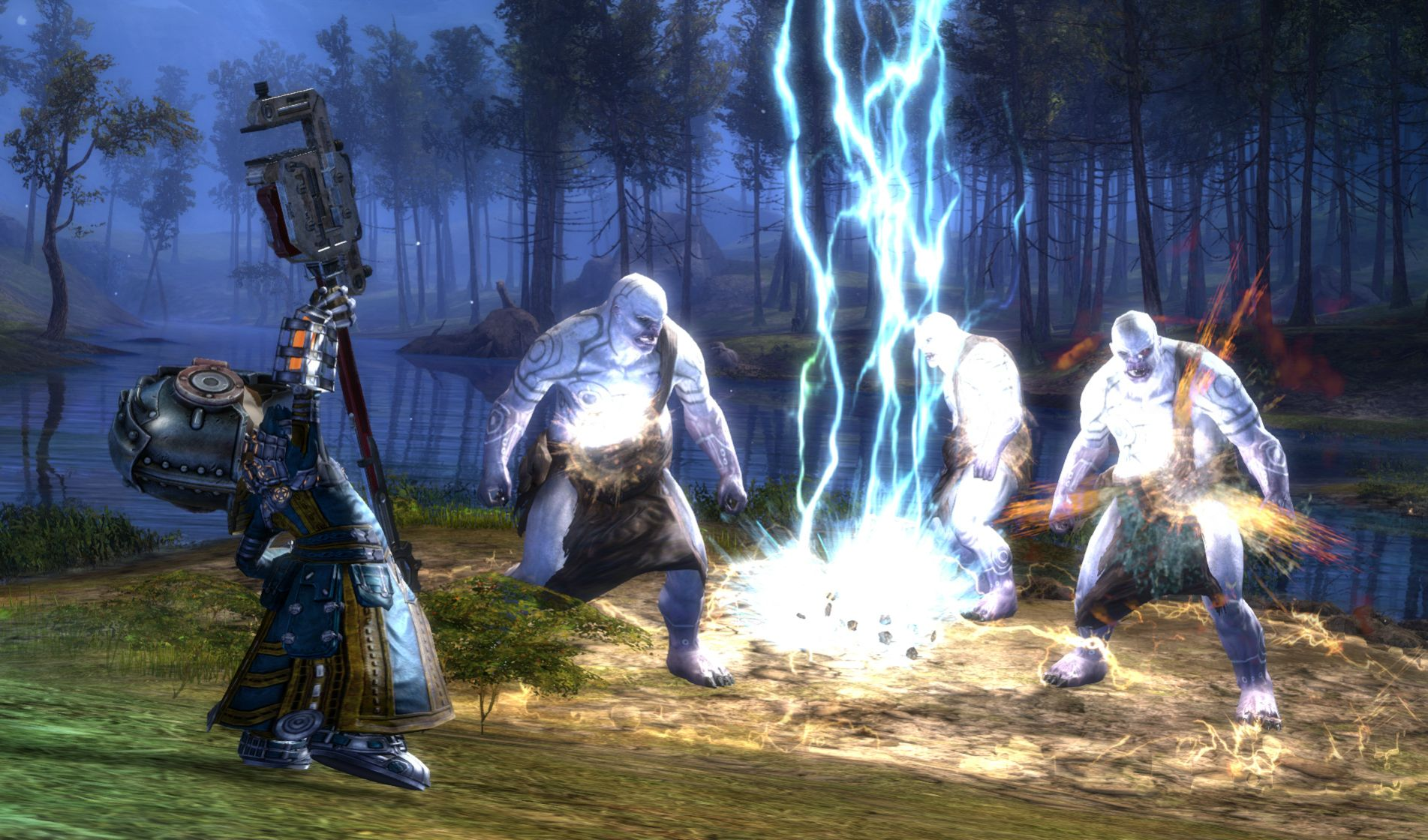 Der Thunderclap trifft viele Feinde gleichzeitig und lähmt sie.