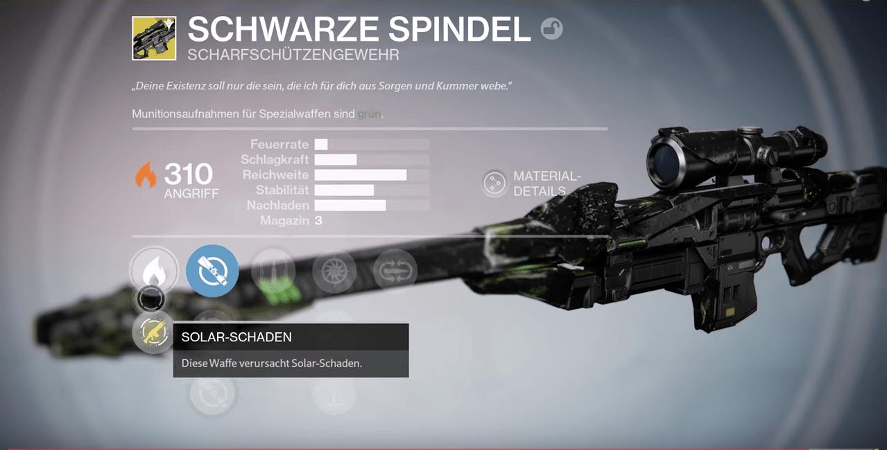 Schwarze-Spindel-Destiny