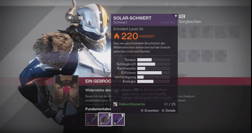 Solar-Schwert-Destiny