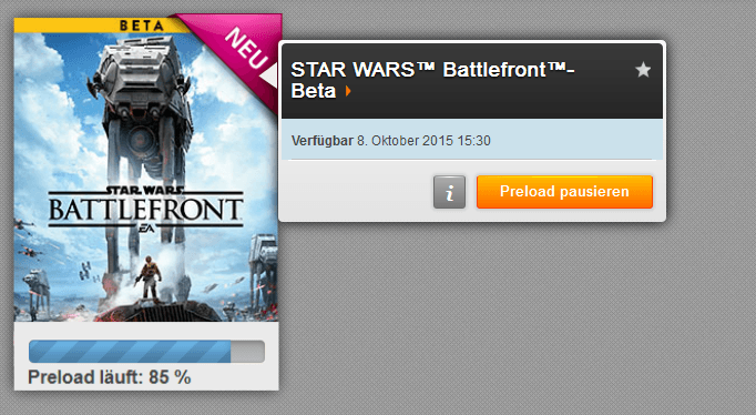 Battlefront-Zeitangabe