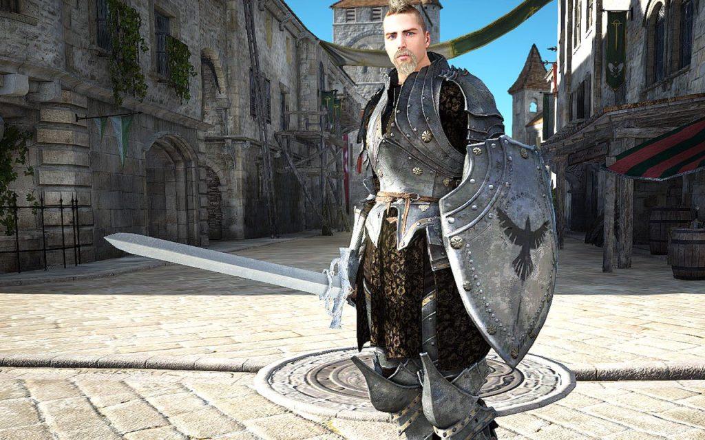 Klassich und bekannt: Der Krieger tankt und kontrolliert.