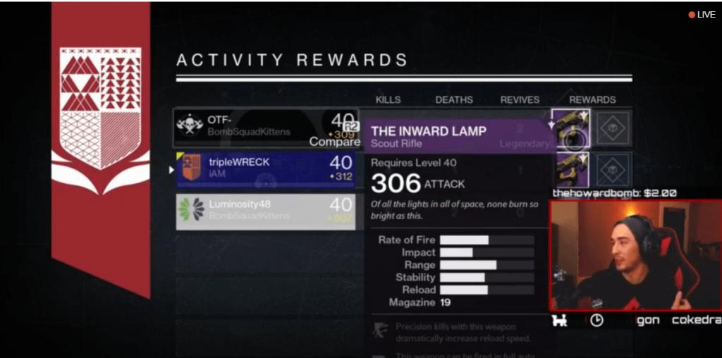 Destiny-Belohnung