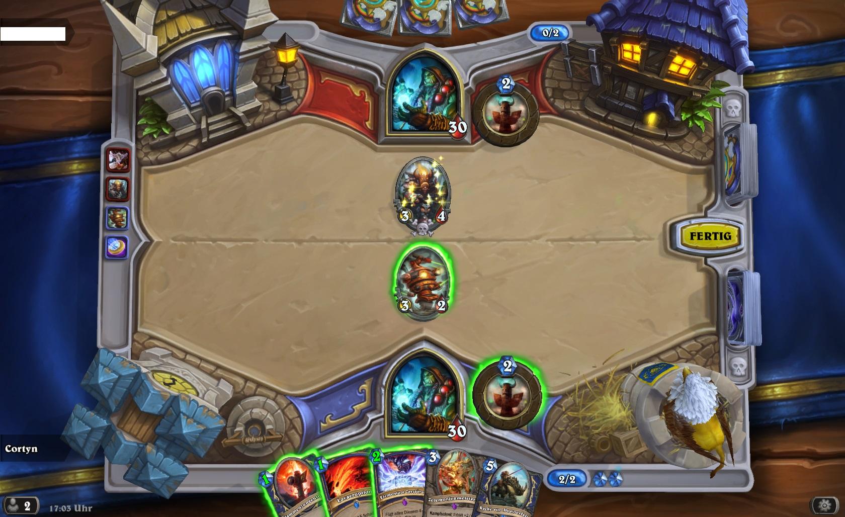 Hearthstone Kartenchaos Zufall Gameplay
