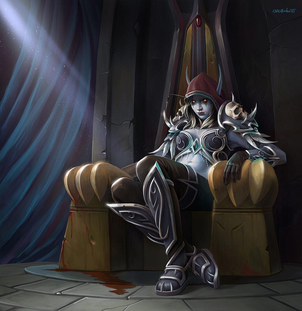 Sylvi erklimmt den Thron als Warchief - wenn auch nur temporär.