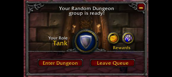 World of Warcraft Dungeon Finder Tank
