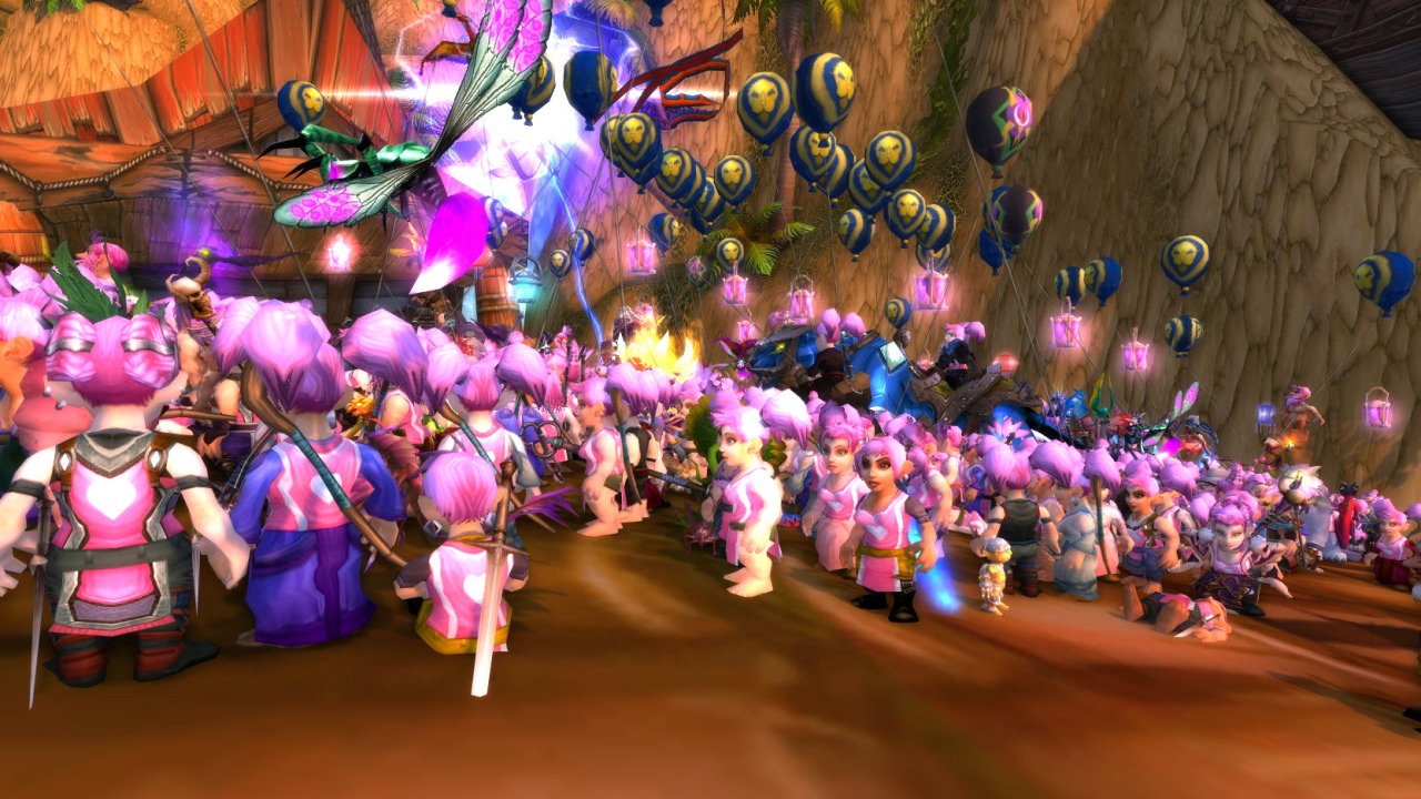 Wow pink gnome run