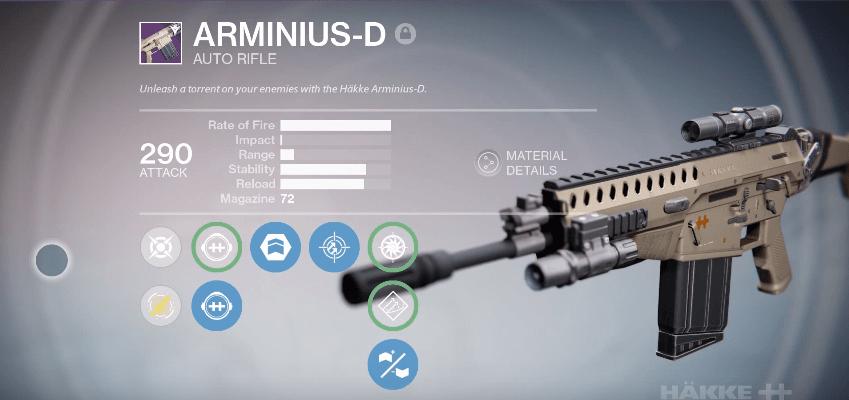 Destiny: Waffentag am 24.2. bringt die Arminius-D zurück