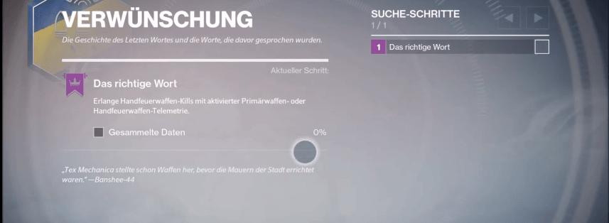 Destiny-Verwünschung