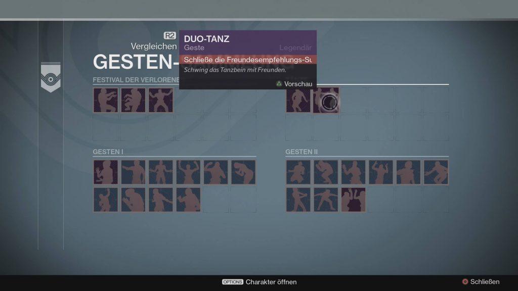 Duo-Tanz-Übersicht