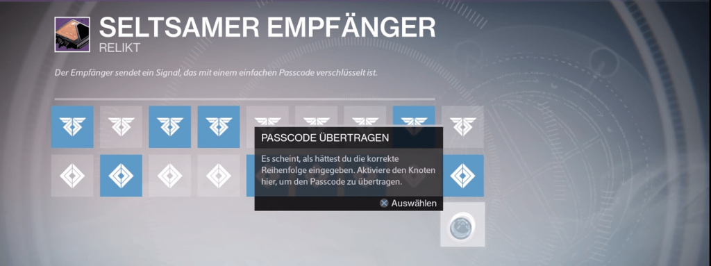 Seltsamer-E,mpfaenger-Passcode-1