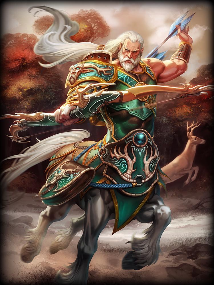 Smite Chiron God Card