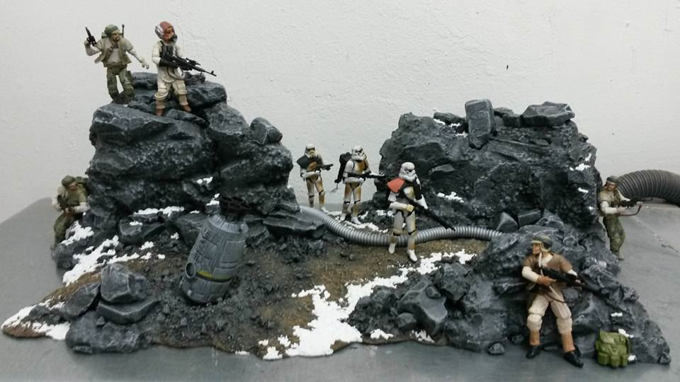 Star Wars Battlefront Diorama Drop Zone Sullust