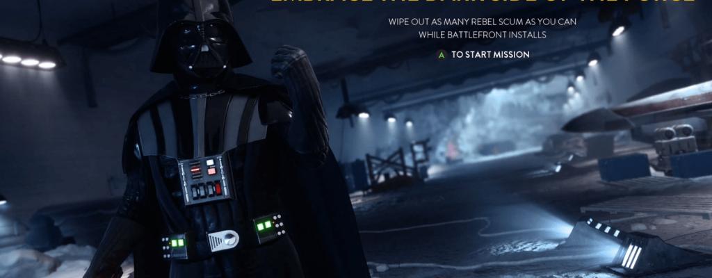 Star Wars Battlefront hat Lord Vader als Installations-Spielchen und einige Sachen geändert