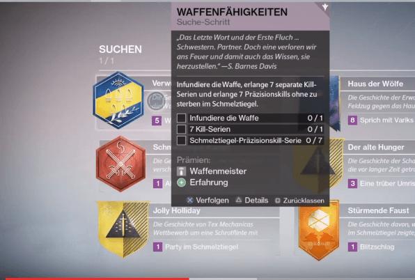 Waffenfähigkeiten-Destiny