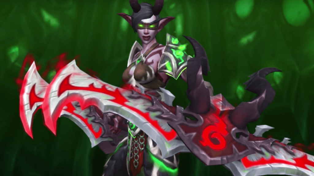WoW Demon Hunter female nightelf