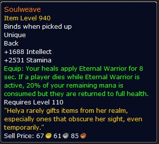WoW Legendary Soulweave
