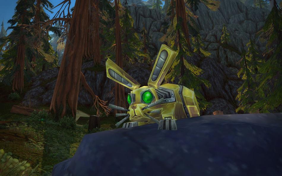 WoW Legion Gnom Jäger Pet Mechanical Hare