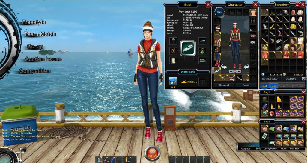 World of Fishing Charakter