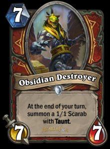 Karten wie der Obsidian Destroyer sollen den Krieger wieder interessanter machen.