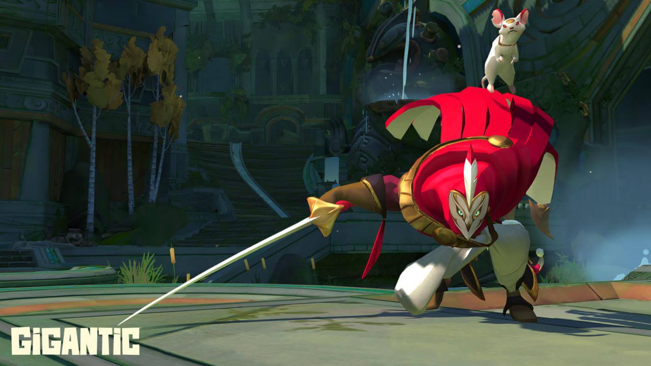 Gigantic hero samurai birdman
