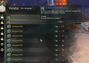 Guild Wars 2 Wintertag Geschenkpapier