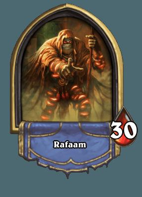 Hearthstone Forscherliga Boss Rafaam